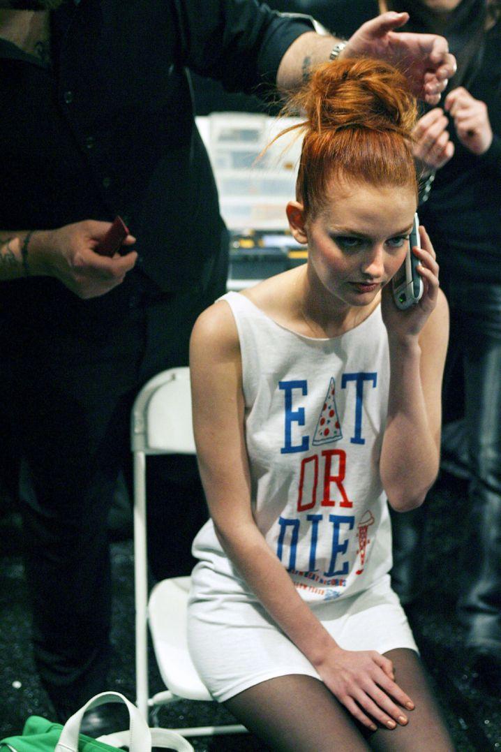 »Friss oder stirb«: Ein Model backstage bei der New Yorker Fashion Week