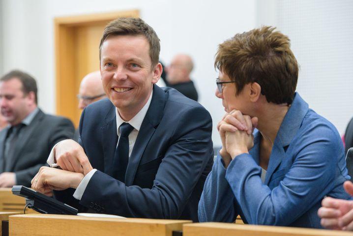 Ministerpräsident Hans, Vorgängerin Kramp-Karrenbauer