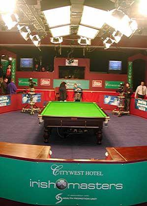 Snooker-Tisch im Dubliner Citywest Hotel: Beleidigung des Ranghöheren