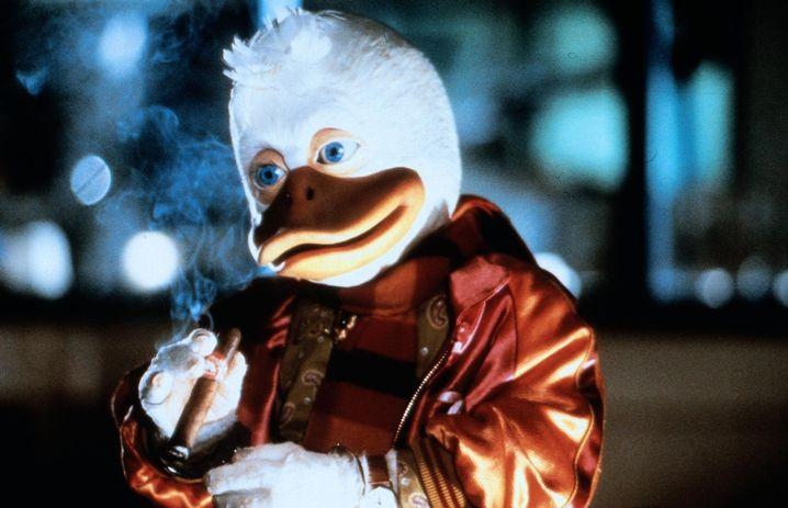 """Gefiederter Filmheld Howard the Duck: Im """"Playduck""""-Magazine auf Entenbrüste starren"""