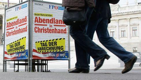 Antiislamischer Wahlkampf der FPÖ: Wahlplakat in Wien