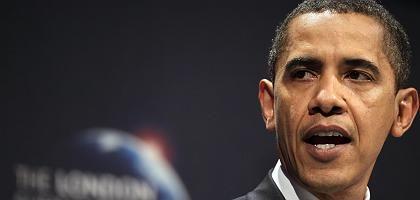 """US-Präsident Obama in London: """"Noch nie dagewesene Maßnahmen"""""""