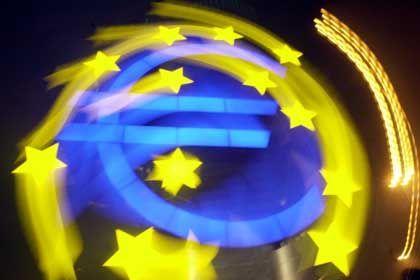Keine Sorge vor einem Wert von 1,20 Dollar: Euro-Symbol vor der EZB-Zentrale in Frankfurt am Main