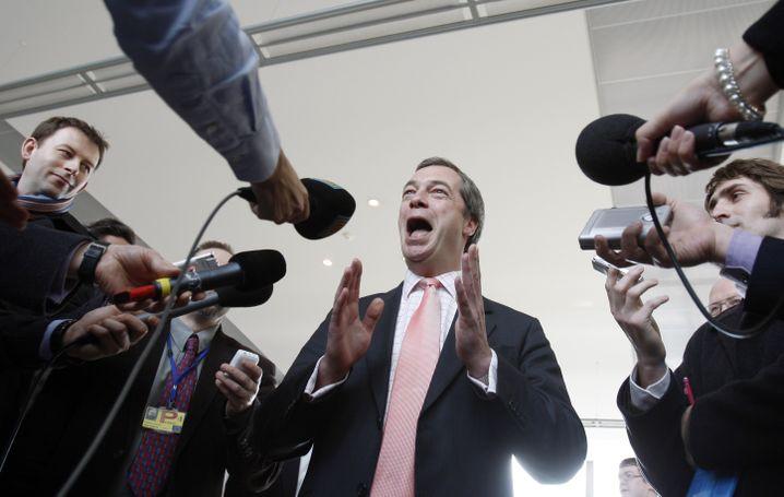 EU-Hasser Nigel Farage: Einmal Brüssel den Mittelfinger zeigen