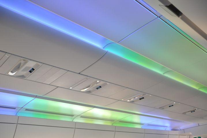 Grünblau bei der Landung: So sieht das Finnair-Lichtkonzept aus