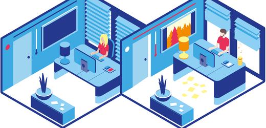 Arbeitsalltag: Das Büro der Zukunft - in Grafiken erklärt