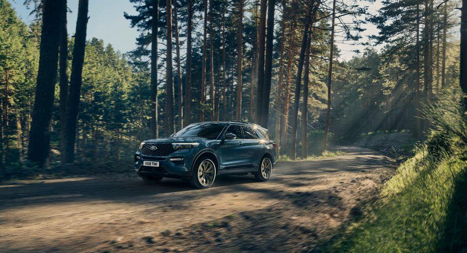 Der wuchtige SUV Ford Explorer wird in Deutschland ausschließlich mit Plug-in-Hybridantrieb angeboten.