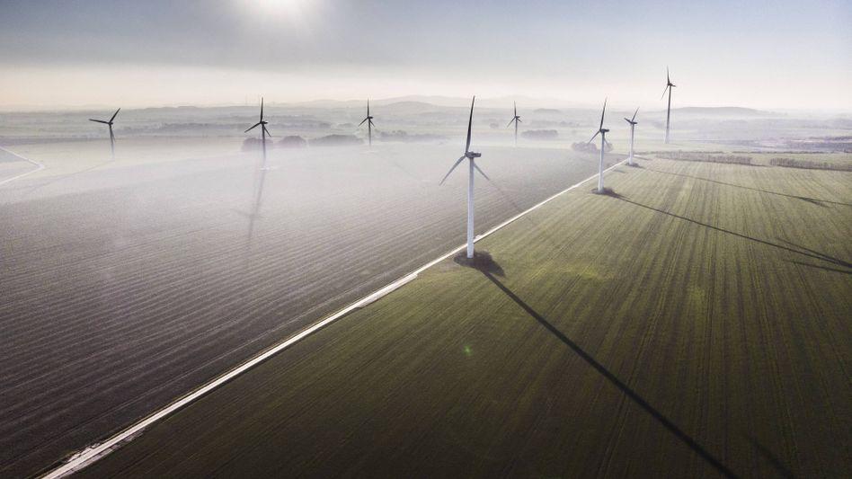 Heute sind Windräder in vielen Ländern noch die Ausnahme: Bis zum Jahr 2050 sollen es nur noch erneuerbare Energien sein