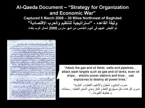 Faksimile und Übersetzung: Aus dem Strategiepapier eines Terroristen