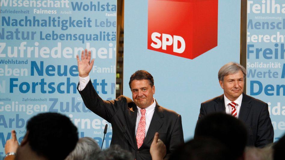 SPD-Wahlkämpfer Gabriel, Wowereit: Start einer Siegesserie?