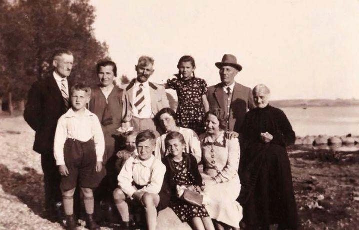 Familienfoto: Kurt Steininger steht auf dieser Aufnahme (um 1936) links vorn