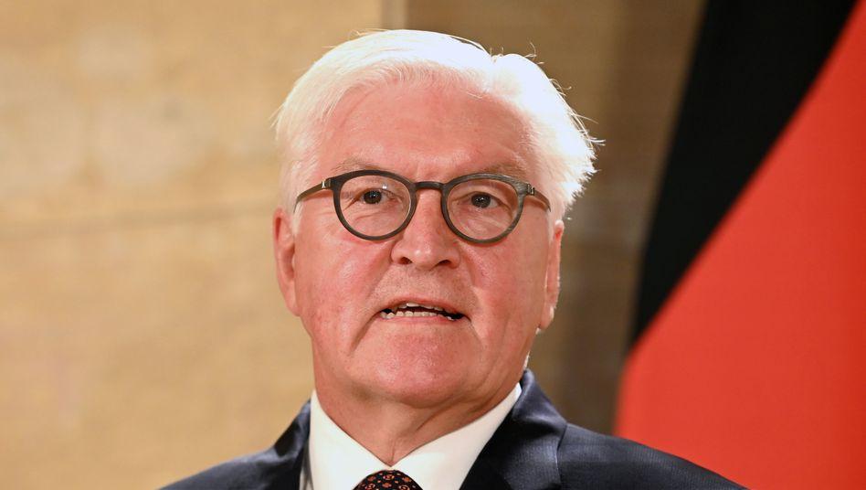 """Bundespräsident Frank-Walter Steinmeier (Archiv): """"Mein Verständnis endet da, wo Demonstranten sich vor den Karren von Hetzern spannen lassen"""""""