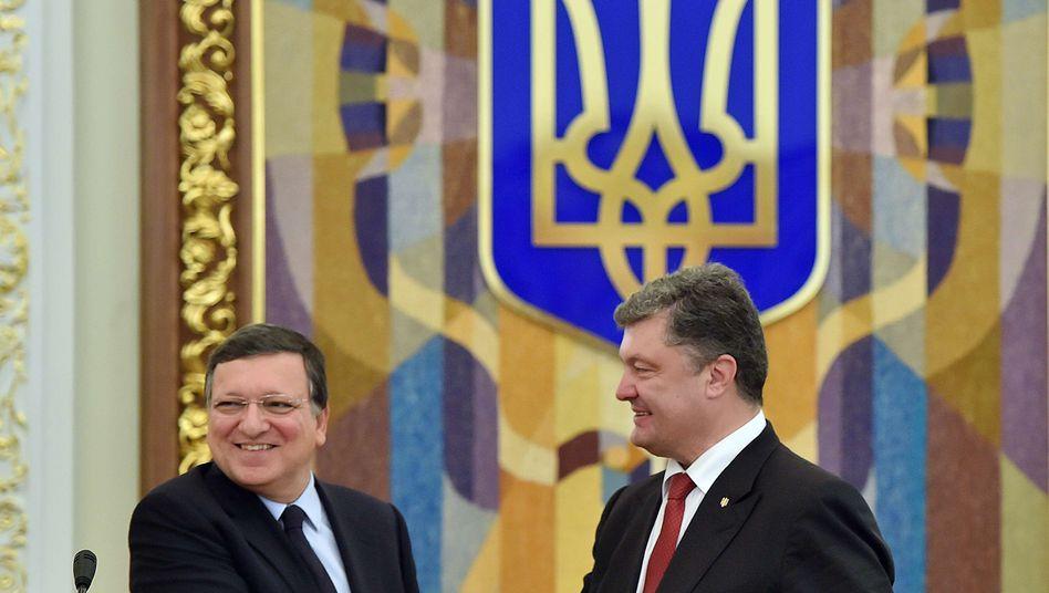 """Barroso mit Poroschenko: """"Die Ukraine hat dieselben Rechte wie alle anderen europäischen Nationen"""""""
