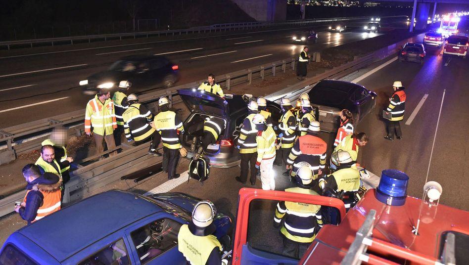 Feuerwehreinsatz auf der A9