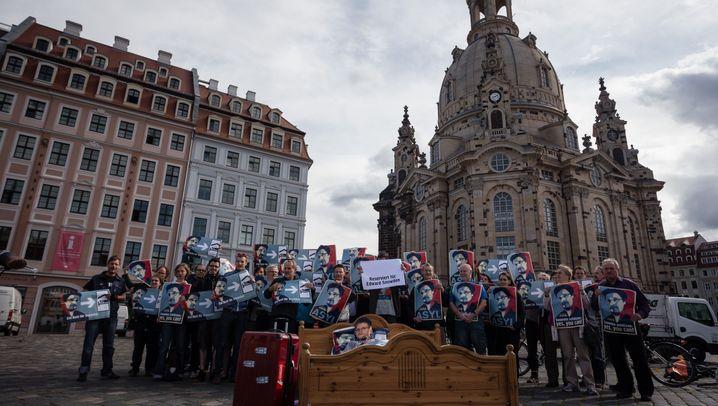 Protest in deutschen Städten: Aktivisten suchen Schlafplatz für Edward Snowden