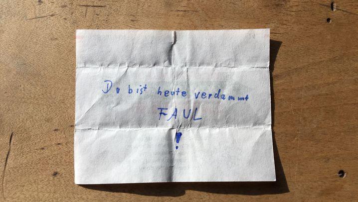 Zettelchen im Unterricht: Handschriftliches Instant Messaging