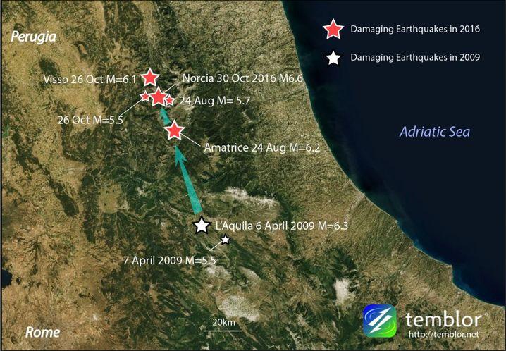Fünf zerstörerische Erdbeben seit 2009