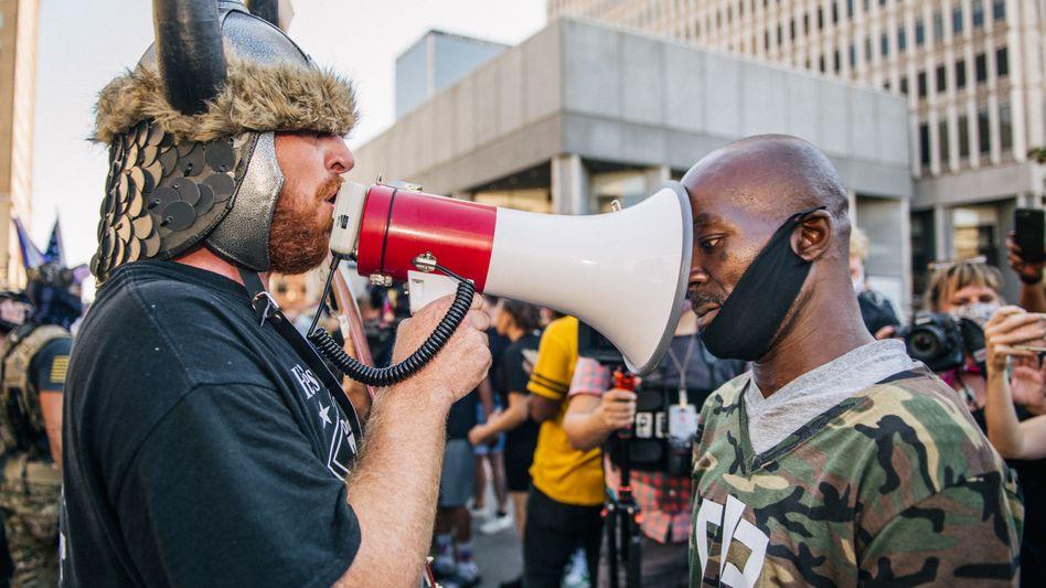 Demonstranten in Louisville (US-Bundesstaat Kentucky): Ein Prozess ist im Gange, bei dem der gesellschaftliche Grundkonsens verlorenzugehen droht