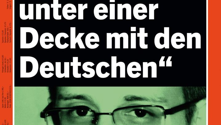 Photo Gallery: DER SPIEGEL Snowden Covers