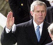 George W. Bush bei der Vereidigung