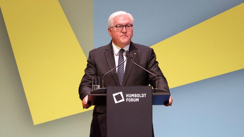 Bundespräsident Steinmeier bei der Schloss-Einweihung
