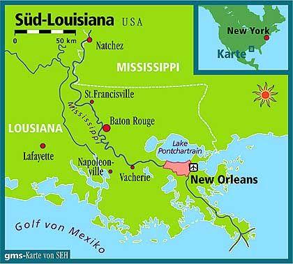 Der Süden von Louisiana