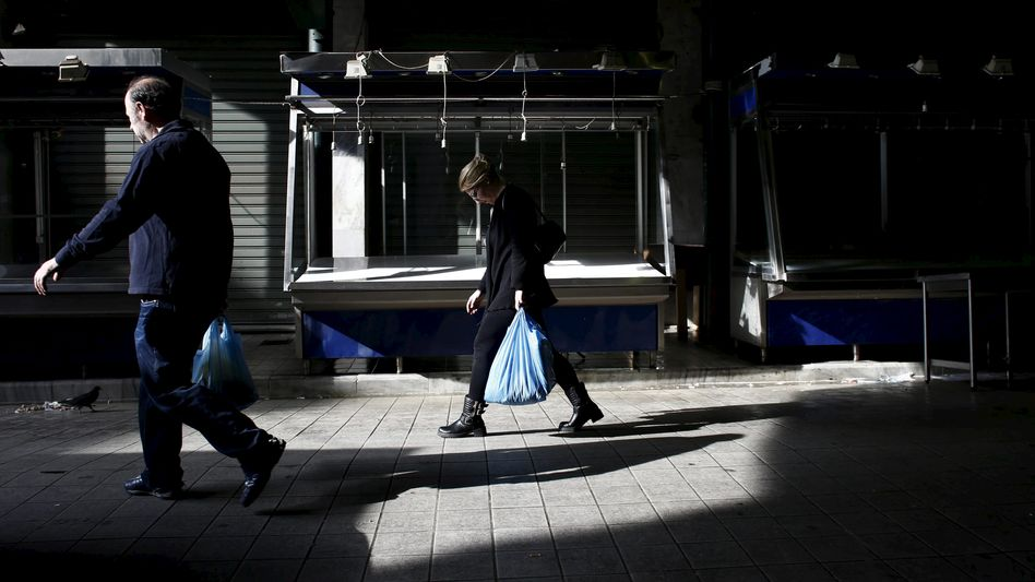 Hauptmarkt in Athen: Vertrauen verloren
