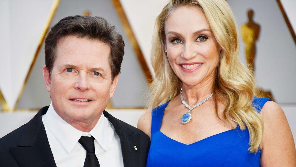 """Fox mit Ehefrau Tracy Pollan (im Jahr 2017): """"Mir bleibt das Schreiben"""""""