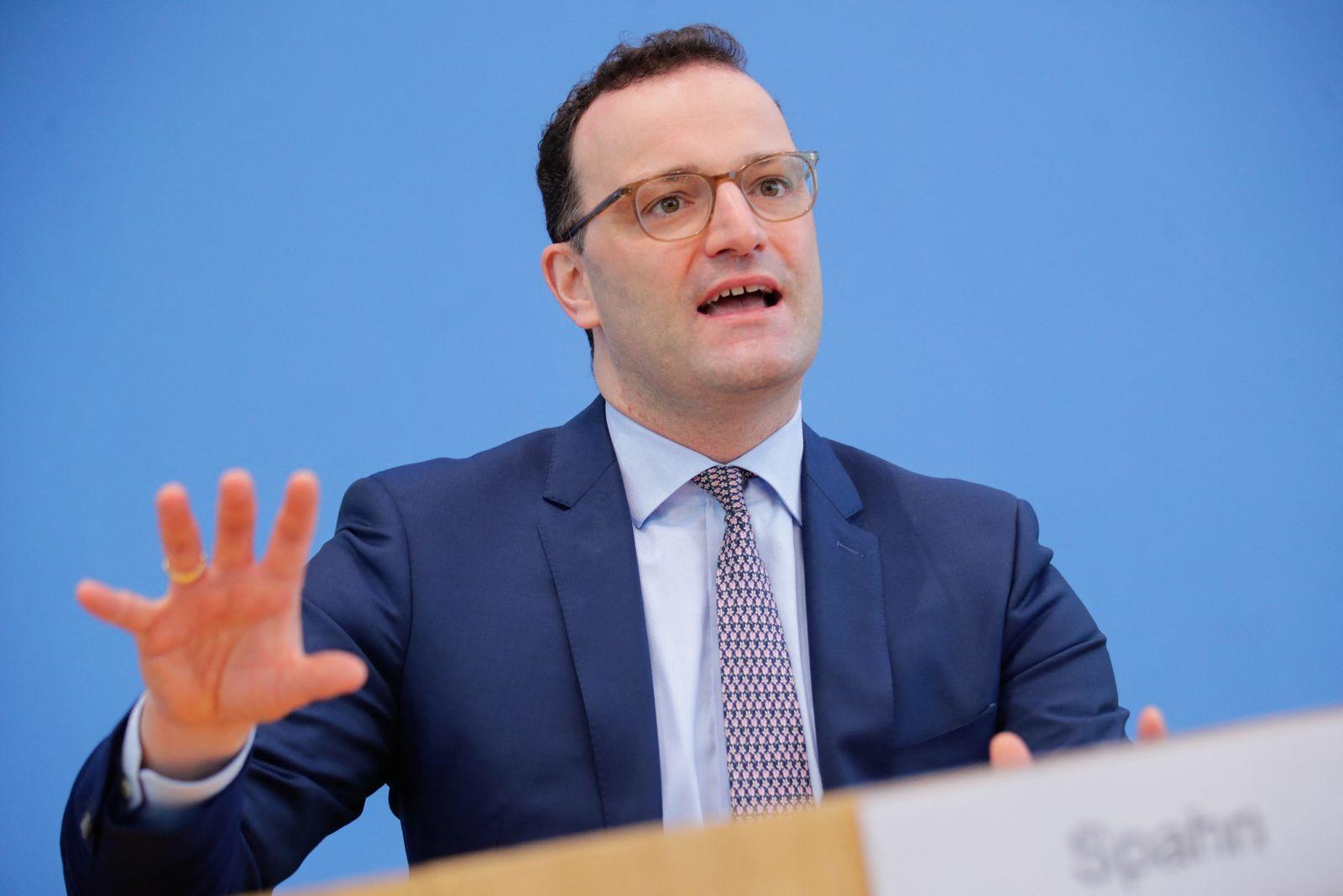 Health Minister Jens Spahn, RKI health authority head Lothar Wieler hold press conference