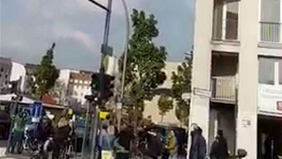 Aussichtsballon unweit vom Checkpoint Charlie