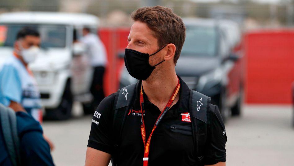 Romain Grosjean vor dem Unglücksrennen in Bahrain