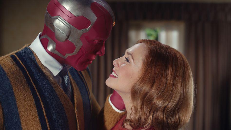 »WandaVision«-Stars Paul Bettany und Elizabeth Olsen: Screwball mit Superkräften
