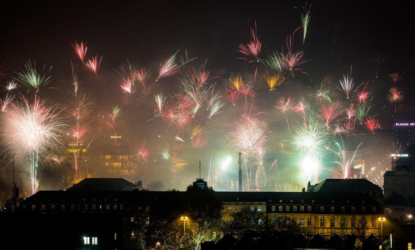 Silvesterfeuerwerk - Stuttgart