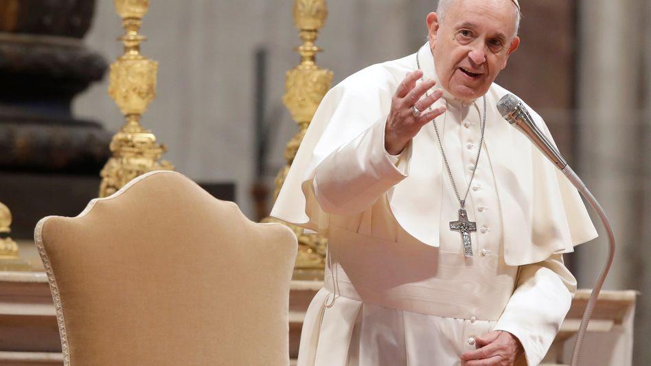 Papst Franziskus in der Peterskirche im Vatikan (Archivfoto)