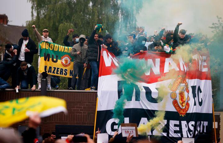 Die United-Fans zeigen ihren Unmut – nicht nur über die Super League