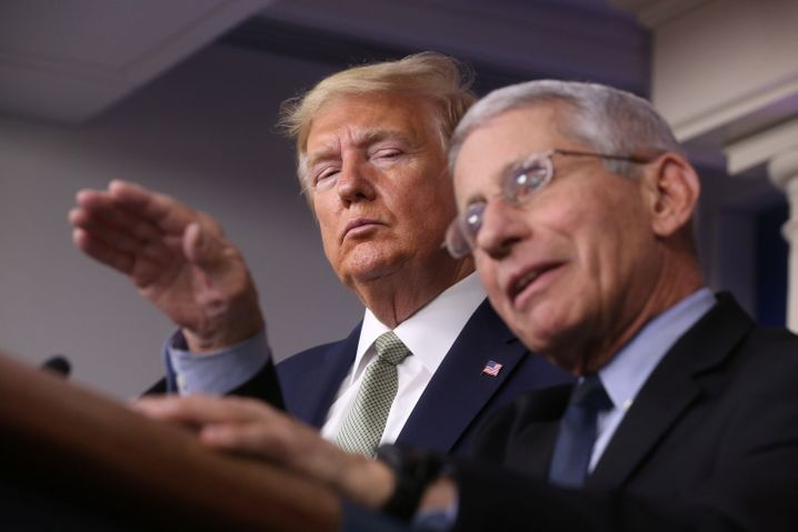 Anthony Fauci hat schon häufiger Aussagen von Donald Trump korrigiert - auch die zu möglichen Behandlungsmethoden