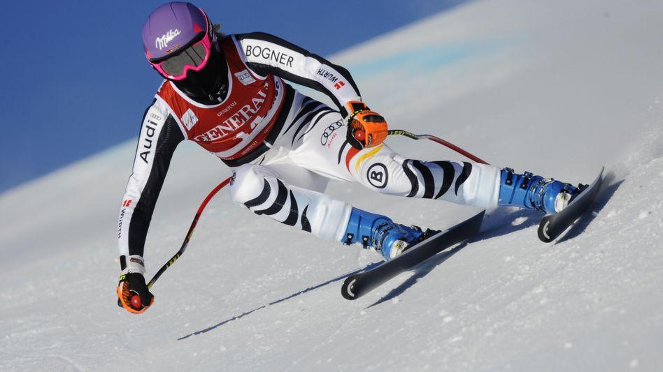 Skifahrerin Höfl-Riesch: ersten Sieg in der Olympia-Saison