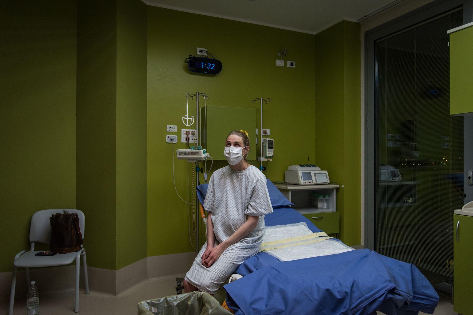 Italy, Milan - Childbirth in the time of coronavirus