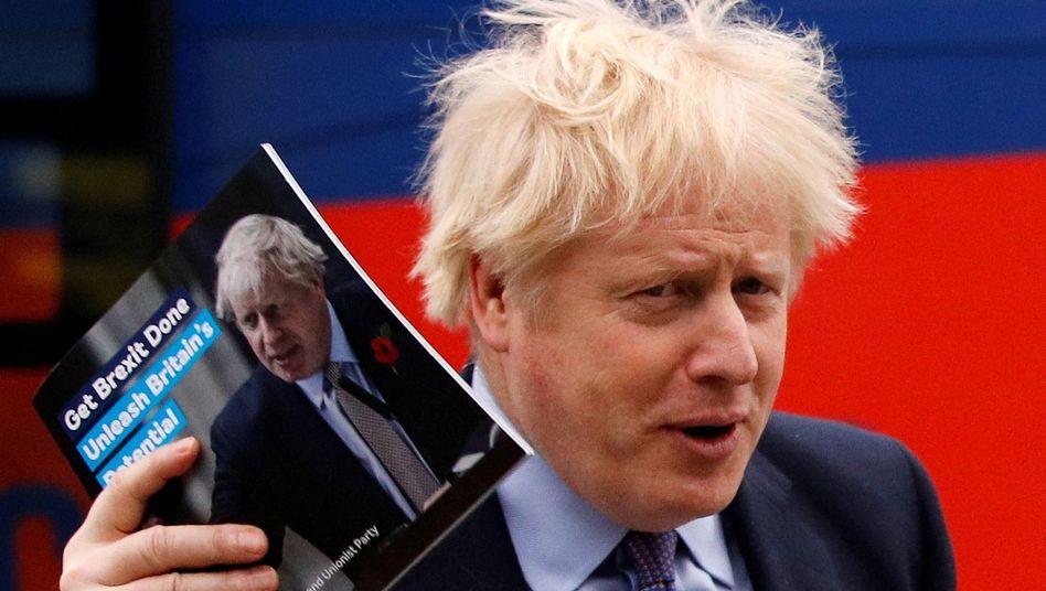 """""""Brexit schaffen - Großbritanniens Potenzial entfesseln"""": Das Motto des Wahlprogramms von Boris Johnson"""