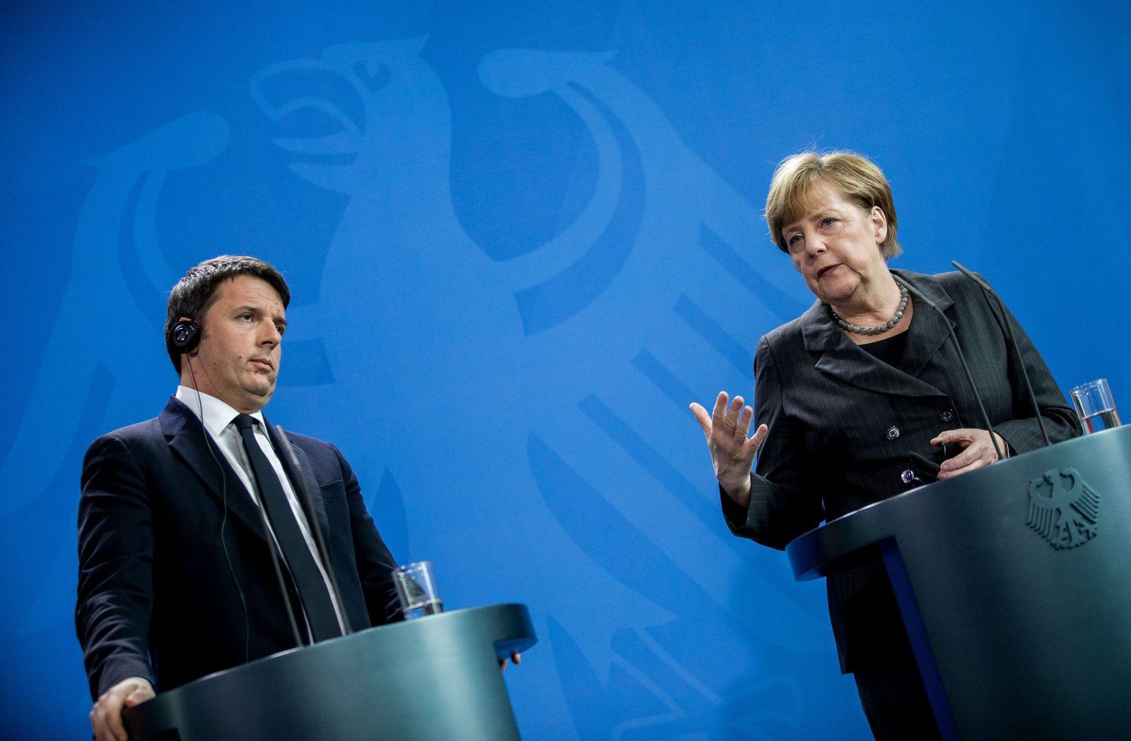 Matteo Renzi / Angela Merkel