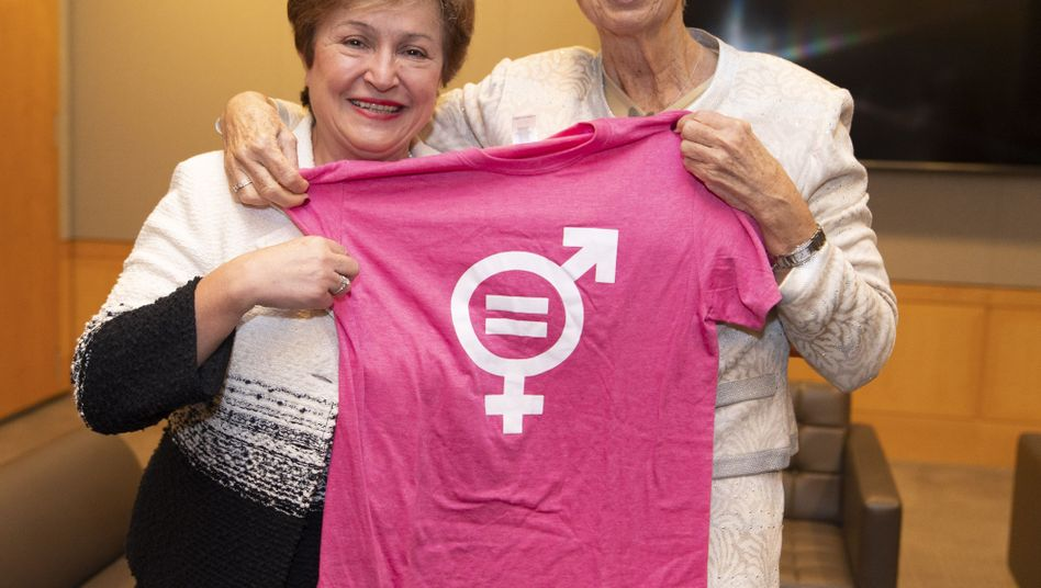 Kristalina Georgiewa (links) soll auf Christine Lagarde folgen