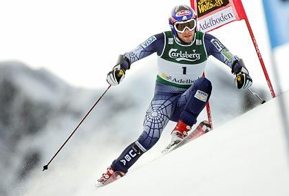 US skier Bode Miller competes during the first run of the Alpine World Cup Giant Slalom race in Adelboden, 07 January 2006.