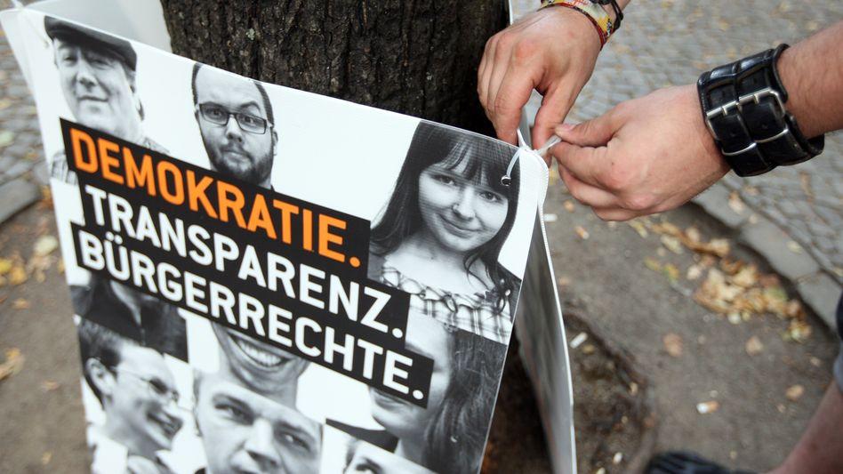 Plakat der Berliner Piraten: Hat die Partei ein Frauen-Problem?