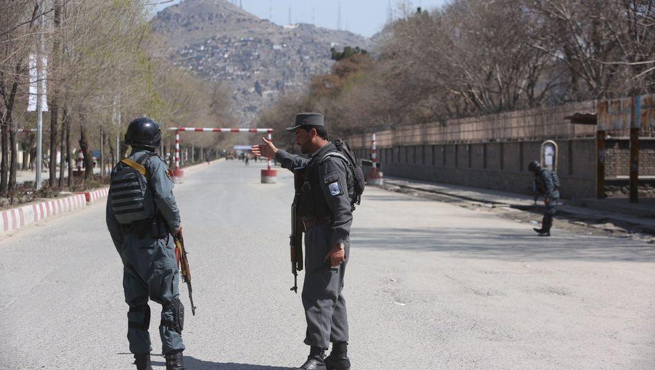 Polizisten in Kabul