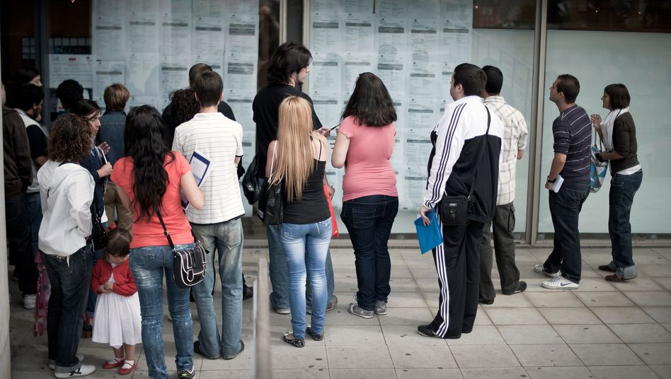 Immer weniger Jobs: Mit 24,5 Prozent hat Spanien die höchste Arbeitslosenquote der Welt.