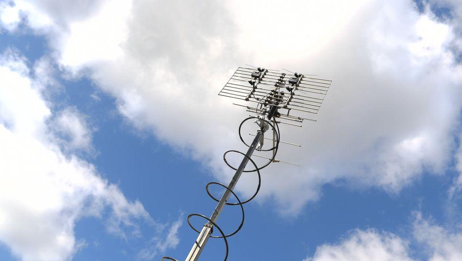 Messantenne am Technikstandort der Bundesnetzagentur