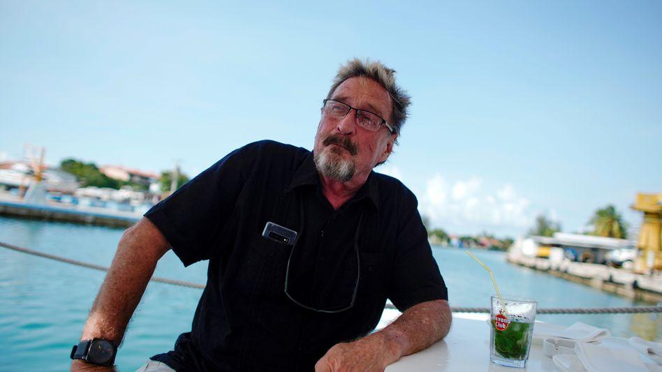 John McAfee in Havanna, Kuba (2019): Liebhaber von »Frauen, Abenteuern und Mysterien«