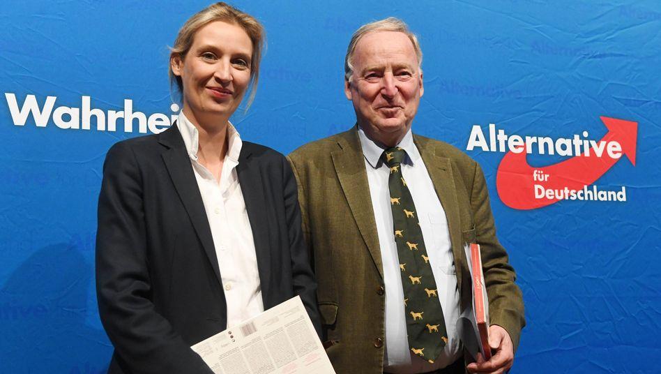 AfD-Politiker Alice Weidel und Alexander Gauland