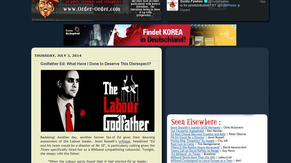 """Blog """"Guido Fawkes"""": Wie viele andere Seiten blockiert"""