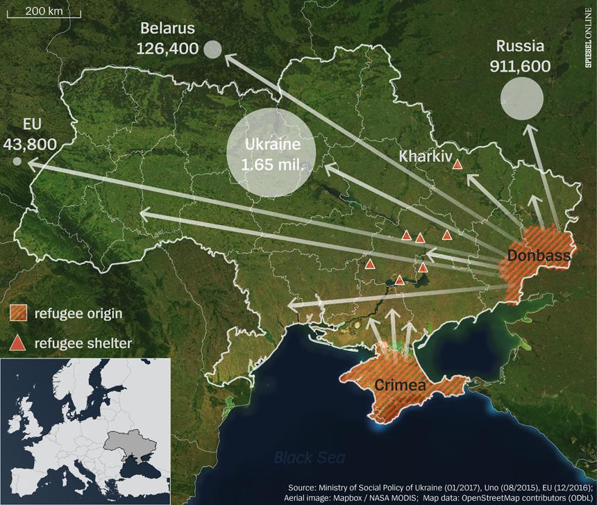 Karte - Ukraine Flüchtlingscamps ENGLISCH --- 2. Korrektur am 18.01.2017